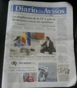 Portada Diario de Avisos