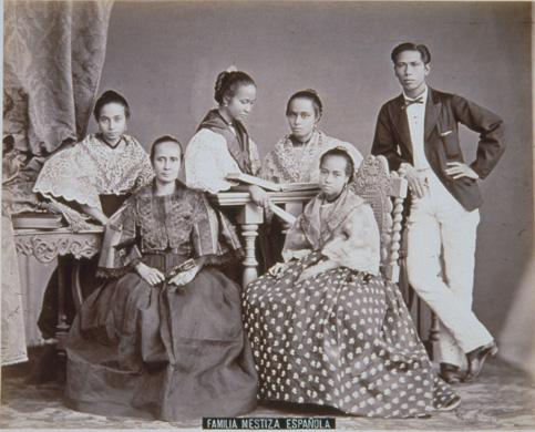 FAMILIA MESTIZA ESPAÑOLA