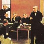 """Cuadro de André Brouillet """"Un Leçon Clinique à la Salpêtrière"""" (1887).. sobre Jean Martin Charcot y la Escuela de la Salpetriere"""